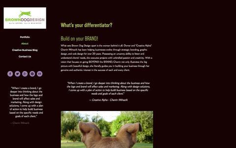 Screenshot of About Page brown-dog-design.com - About — BROWNDOGDESIGN - captured Sept. 30, 2014