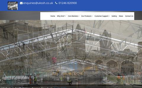 Screenshot of Home Page ukssh.co.uk - Home - captured Oct. 1, 2018