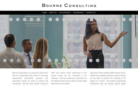 Screenshot of Home Page bourneconsulting.com - Home - Bourne Consulting - captured March 20, 2019