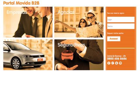 Screenshot of Login Page movida.com.br - Movida - B2b - captured Nov. 14, 2019