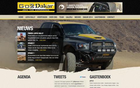 Screenshot of Home Page go2dakar.com - Home - Go2Dakar - captured Sept. 30, 2014