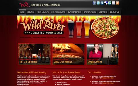Screenshot of Home Page wildriverbrewing.com - Wild River Brewing - captured Oct. 6, 2014
