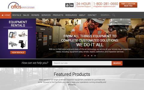 Screenshot of Home Page atlas-inspection.com - Atlas Inspection Home | Atlas Inspection - captured Oct. 4, 2014