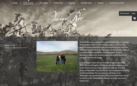 Screenshot of About Page owenroe.com - Owen Roe - About Us - captured Sept. 26, 2014