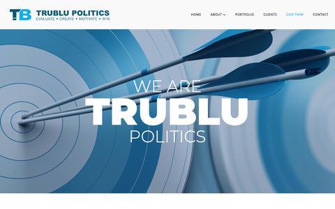 Screenshot of Team Page trublupolitics.com - Our Team – TruBlu Politics - captured Nov. 19, 2018