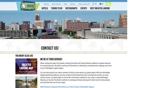 Screenshot of Contact Page lansing.org - Contact - captured Nov. 14, 2016