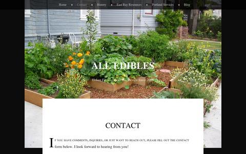 Screenshot of Contact Page wordpress.com - Contact | All Edibles - captured Sept. 12, 2014