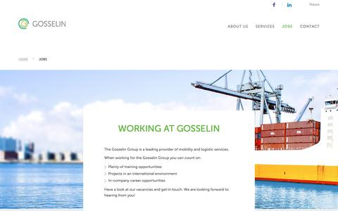 Jobs | Gosselingroup - Mobility and logistics services - Gosselingroup