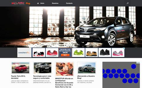 Screenshot of Blog karlu.com.pe - Blog - Karlu Rent a Car | Lo Mejor para ti… - captured Oct. 27, 2014