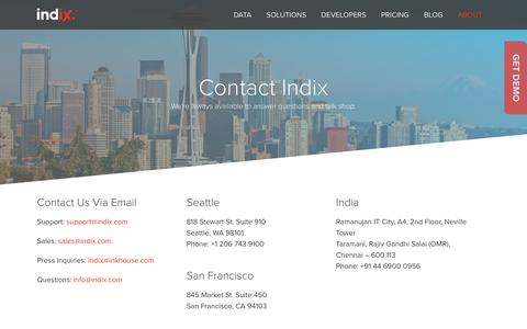 Contact Us | Indix