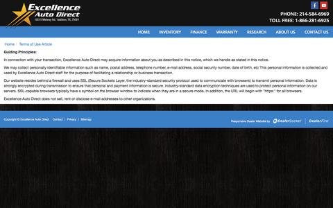 Screenshot of Privacy Page excellenceautodirect.com - Addison Texas  Dealership | Excellence Auto Direct - captured May 22, 2017