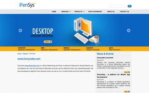 Screenshot of Products Page ifensys.com - iFenSys Software Solutions Pvt. Ltd | CarryJobs - captured Oct. 6, 2014
