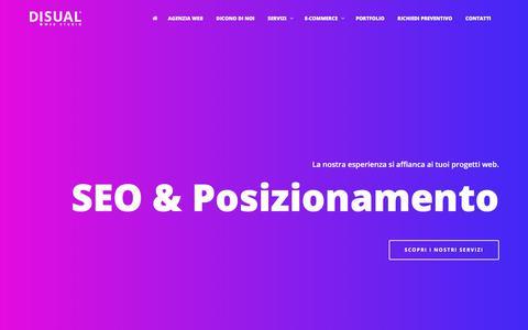 Screenshot of Home Page disual.it - DISUAL // Realizzazione siti web, e-commerce Rimini, San Marino - captured Dec. 1, 2017