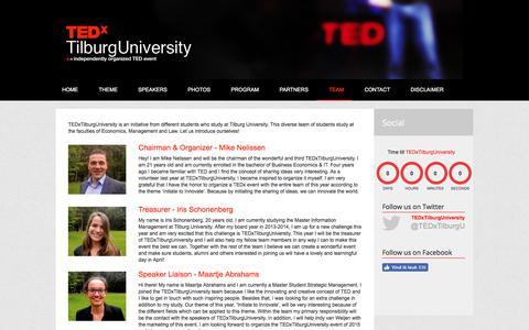 Screenshot of About Page tedxtilburguniversity.nl - Team - TEDxTilburgUniversity 2015   Initiate to Innovate - captured June 16, 2017