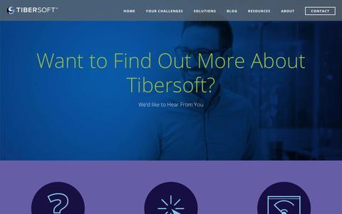 Screenshot of Contact Page tibersoft.com - Contact | Tibersoft - captured Oct. 6, 2018