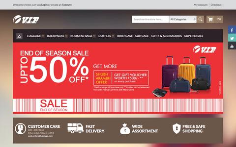Screenshot of Products Page vipbags.com - VIP Bags online store India. Buy VIP bags, luggage, suitcase, trolley, handbags - captured Jan. 15, 2016