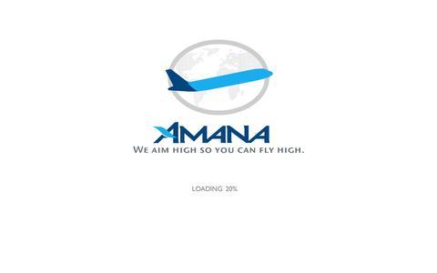 Screenshot of Home Page amana-aviation.net - Amana - captured Sept. 30, 2014