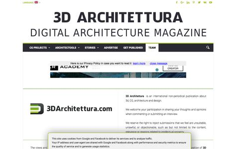 Screenshot of Team Page 3darchitettura.com - 3D Architettura. Digital Architecture Magazine: Editorial policy - captured Sept. 21, 2018