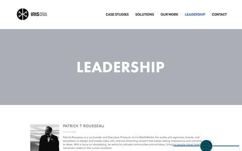 Screenshot of Team Page irismediaworks.com - Leadership — Iris MediaWorks - captured June 8, 2017