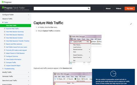 View Web Traffic | Progress Telerik Fiddler Documentation