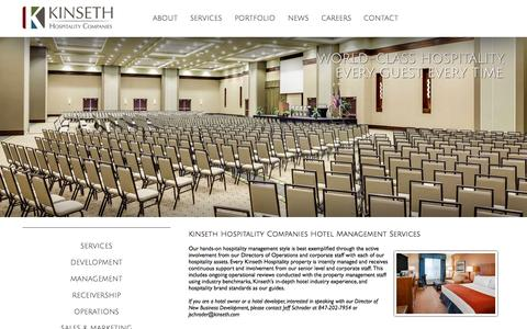 Screenshot of Team Page kinseth.com - Midwest Hotel Management Services | Kinseth Hospitality Companies - captured Oct. 6, 2014