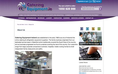 Screenshot of About Page cateringequipment.ie - About Us - captured Oct. 1, 2014