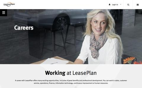 Screenshot of Jobs Page leaseplan.com.au - Careers | LeasePlan - captured July 21, 2017