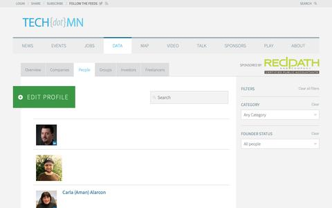 Screenshot of Team Page tech.mn - TECHdotMN Directory - People - TECHdotMN - captured Oct. 19, 2018
