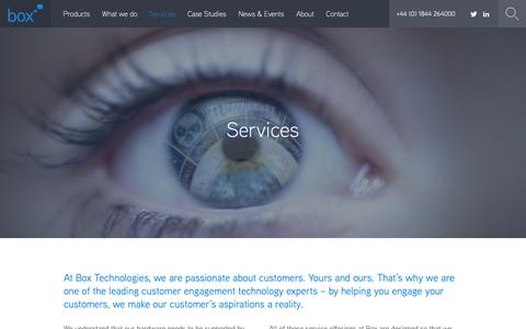 Screenshot of Services Page boxtechnologies.com - Services |  Box Technologies - captured Oct. 6, 2018
