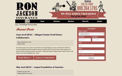 Our Michigan Insurance Blog | Ron Jackson Insurance Agency of Kalamazoo MI