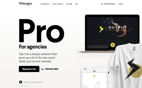 Screenshot of 99designs.com - Pro Design Services For Agencies | 99designs - captured Sept. 20, 2017