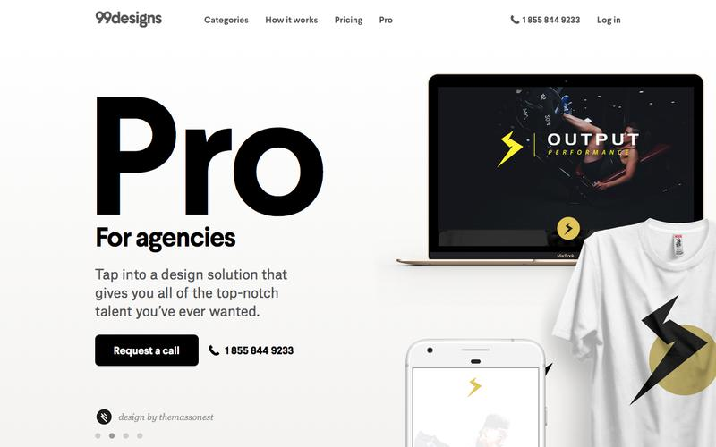 Screenshot Pro Design Services For Agencies | 99designs