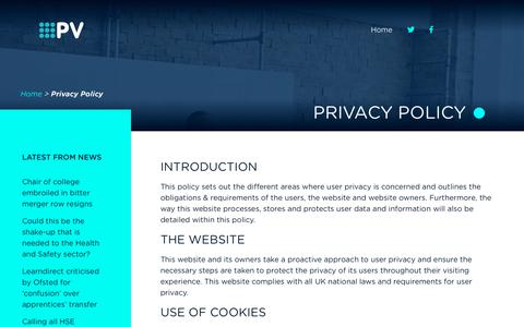 Screenshot of Privacy Page penshawview.co.uk - Privacy Policy | Penshaw View Training - captured July 17, 2018