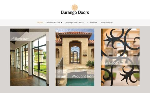 Screenshot of Home Page durangodoors.com - Durango Doors - captured Jan. 21, 2015