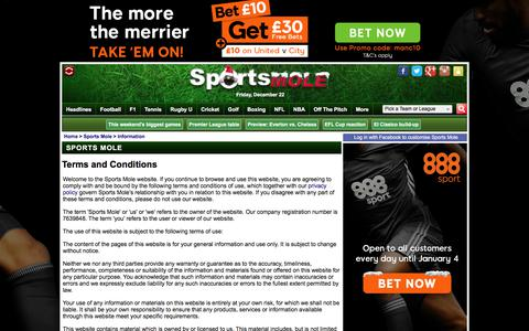 Terms and Conditions - Sports Mole
