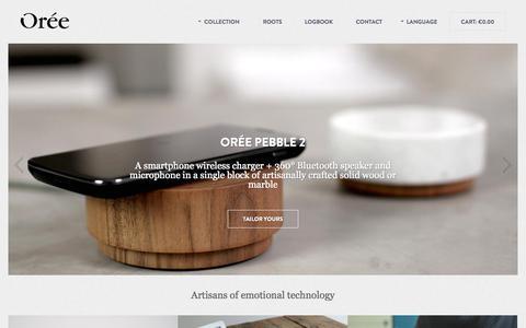Screenshot of Home Page oreedesign.com - Oree | Artisans of emotional technology - captured Sept. 17, 2014
