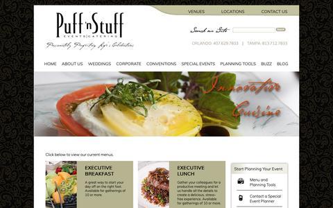 Screenshot of Menu Page puffnstuff.com - Menu - captured Sept. 30, 2018
