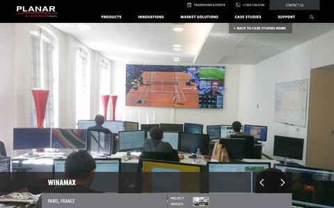 Screenshot of Case Studies Page planar.com - Winamax, Paris, France - Case Study | Planar - captured April 14, 2018