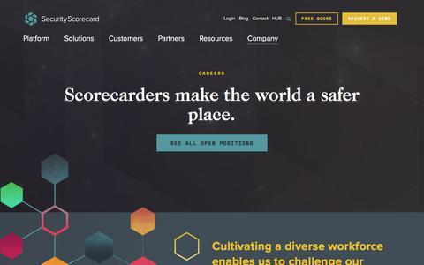 Screenshot of Jobs Page securityscorecard.com - (1) New Message! - captured Aug. 7, 2019