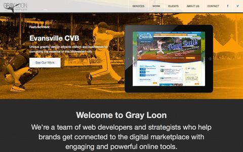 Screenshot of Home Page grayloon.com - Home | Gray Loon Marketing Group, Inc. - captured Jan. 26, 2015
