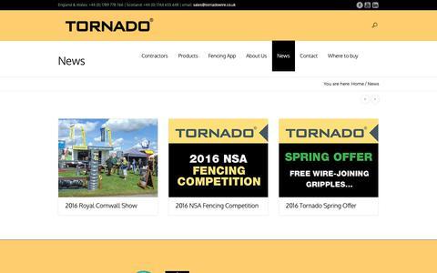 Screenshot of Press Page tornadowire.co.uk - News | Tornado Wire - captured Nov. 17, 2018