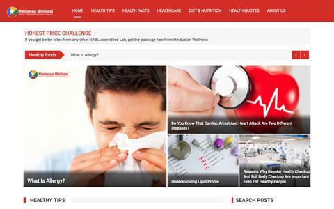 Screenshot of Blog hindustanwellness.com - Hindustan Wellness Blog - Health Test, News, Tips, Facts - captured June 18, 2019