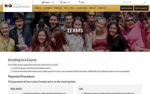 Screenshot of Terms Page ces-schools.com - Terms - captured Sept. 27, 2018