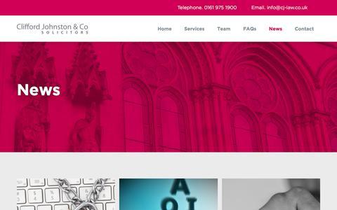 Screenshot of Press Page cj-law.co.uk - News - CJ Law - captured Sept. 24, 2018