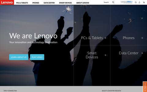 Screenshot of Products Page lenovo.com - Lenovo Official US Site | Computers, Smartphones, Data Center - captured Sept. 23, 2018