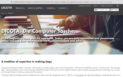 Screenshot of About Page dicota.com - About us    DICOTA - captured Aug. 5, 2018