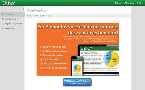 Screenshot of Signup Page uibo.com.br - Uibo - captured Sept. 30, 2014