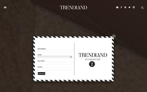 Screenshot of Home Page trendland.com - TRENDLAND | Design & Culture Online Magazine - captured Oct. 19, 2015