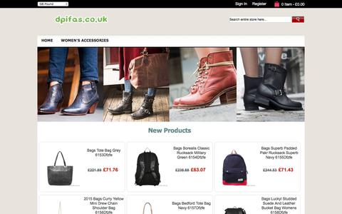 Screenshot of Home Page dpifas.co.uk - Outlet,Bags,Belts,Gloves,Jewellery,Scarves,England - Dpifas.co.uk - captured Oct. 12, 2017