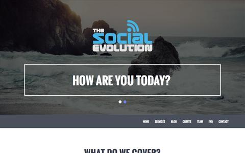 Screenshot of FAQ Page thesocialevolution.co.uk - The Social Evolution | Welcome To The Home Of Social Media | - captured Oct. 8, 2014